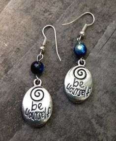 Be Yourself Earrings by TripIntoLight on Etsy, $6.00