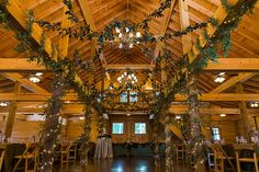 Transformation of the barn was incredible! The bride's dream of a forest came to life. #bestdayever61816