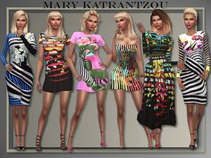 The Fabulous Prints Of M.K. – 8 Dresses by Judie at All About Style • Sims 4 Updates