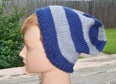 Hat in Ravenclaw colors by Whitaker Knits by whitakerknits on Etsy, $20.00