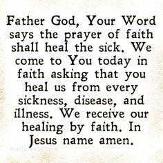 Praying For Healing Quotes, Healing Prayer Quotes, Prayer For Healing The Sick, Prayer For Guidance, Healing Scriptures, Prayers For Healing, Prayer Scriptures, Bible Prayers, Faith Prayer