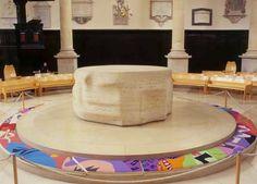 Circular Altar (1972) travertine marble diameter 255cm Church of St Stephen Walbrook City of London