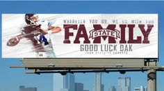 LOOK: Mississippi State is putting up Dak Prescott billboards across Dallas