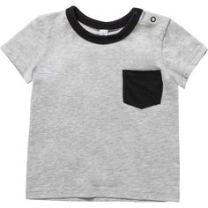 Boost his everyday basics collection with the Boys Pocket Tee from Dymples. Crafted from pure cotton for maximum softness against the skin, this T shirt boasts short sleeves, a contrast crew neckline and press studs to shoulders for easy dressing. A contrast patch pocket to chest provides the finishing touch to this must-have style.