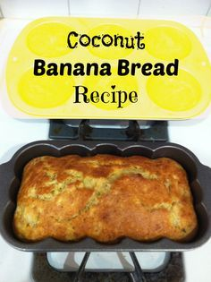 This is the BEST banana bread recipe I have ever made! With the addition of coconut and coconut milk, it is so yummy & easy to make too!