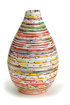 Recycled paper vase