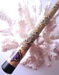 The Full Body Paua Princess Eve Hair Stick by TimberstoneTurnings