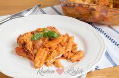 Good Food, Yummy Food, Creamy Pasta, Italian Recipes, Macaroni, Curry, Favorite Recipes, Meat, Chicken