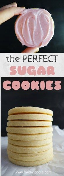 These are my FAVORITE sugar cookies! No question about it. They rock my world.