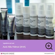 AHA este un acronim pentru Acid Alfa Hidroxi (Alpha Hydroxy Acid). AHA este derivat din diverse plante sau din lapte. Cu toate acestea, 99% din AHA-ul folosit în produsele cosmetice este obținut pe cale sintetică. În concentrații mici (mai putin de 3%), AHA funcționează ca un agent de reținere a apei în piele. Cei mai eficienți și studiați exfolianți AHA sunt acidul glicolic și acidul lactic. Lotion, Shampoo, Personal Care, Homemade, Bottle, Self Care, Home Made, Personal Hygiene, Flask