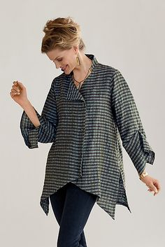 Linen New Moon Shirt: Lynn Mizono: Linen Shirt - Artful Home