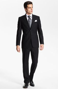 Joseph Abboud Suit & David Donahue Dress Shirt  available at #Nordstrom