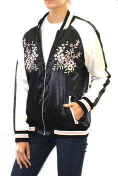 Just added! Floral Embroidered Bomber Jacket.  #BlackFriday #dealsonline #bomberjacket #giftidea