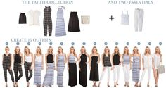 The 5 pieces in our Tahiti collection create 15 outfits. Build the perfect summer capsule wardrobe vacaystyle.com