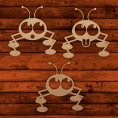 Fun ants template for laser cutting.elements to personalize the design. Wood Cutting, Laser Cutting, Cut Animals, Scroll Saw Patterns, Wood Creations, Stuffed Animal Patterns, Kids Decor, Funny Faces, Ants