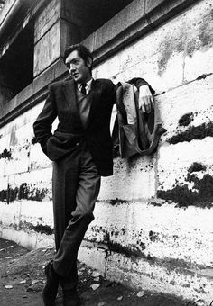Julio Cortázar by Sara Facio. I don't know who this is, but I love the pose and clothes.