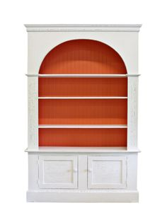 Carolina Two Door Bookcase, 45/55″W x 14″D x 84″H $2395+