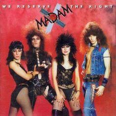 Madam X - Glam metal band - Hard Rock - 1984 Lp Cover, Vinyl Cover, Heavy Metal, Pretty Boy Floyd, 80s Rock Bands, Rock & Pop, Worst Album Covers, Bad Album, Pochette Album
