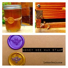 We are loving our new bee stamp!  Just in time for our honey harvest.