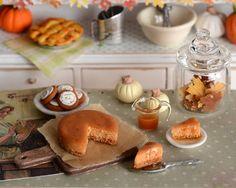Miniature Pumpkin Spice Cheesecake with Caramel by CuteinMiniature, $29.00
