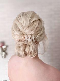 Essex & Suffolk Bridal Hair By Marina Gold Wedding Theme, Wedding Themes, Dream Wedding, Wedding Ideas, Blonde Bridal Hair, Blonde Bun, Best Wedding Hairstyles, Bun Hairstyles, Bun Styles