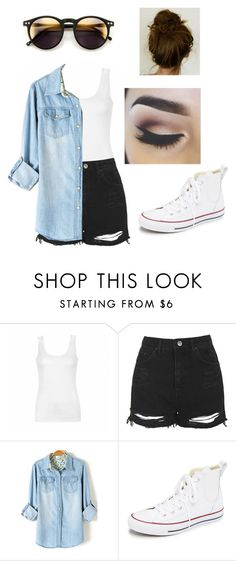"""Casual Day"" by monicachica18 on Polyvore featuring Ally Fashion, Topshop, Wildfox, Converse and outfit"