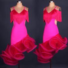 >> Click to Buy << custom spiral tassel Paso Double jive Rumba cha cha salsa Latin dance dress competition  wear S-XXXL #Affiliate