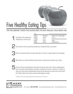 eat five times a day. --and other healthy eating tips
