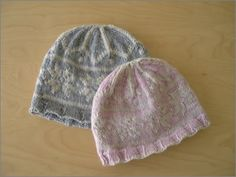 snowflower hats - #knit US 7 circ & dpns, worsted, 2 skeins