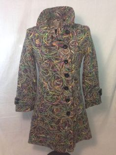 Desigual Designer Ladies Coat Size Med Rare Style LUXE Sexy!!!! Just Make An Offer!!!!!!!!