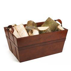 Leather Log Basket : Leather baskets : Life Of Riley