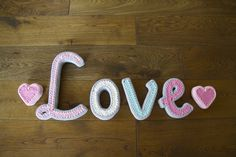 Handcraft handmade home letters ecie-plecie. Aqua yellow white grey pink baby room. https://www.facebook.com/ecieplecie
