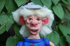 Fantasy ,Fantasie,Kobold Wesen,Troll,Polymer Clay,Fimo,Skulpey,Fairy,Märchen,Skulptur,Art doll,