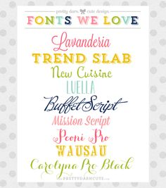 A list from the other font-obsessed people in the world. ... I already have half, its a problem.