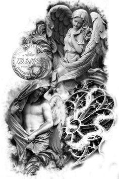 querubines tattoo diseños - Buscar con Google