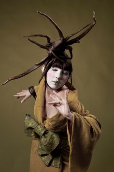 Butoh dancer Anaïs Bourquin photographed by Tinttu Henttonen