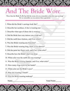 free printable bridal shower games google search