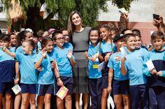 Queen Letizia of Spain attends the opening of the 2017-2018 scholarship courseat 'San Matias' School Centre on September 19, 2017 in Santa Cruz de Tenerife, Spain.