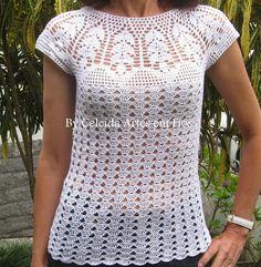 Blusa branca! https://www.facebook.com/pages/Celeida-Artes-em-Fios/146095255511600?ref=br_rs