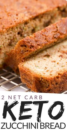 This Keto Zucchini Bread recipe is hands down one of the best quick breads ever. Bake up this tender loaf of zucchini bread today. Zucchini Keto Recipe, Low Carb Zucchini Bread, Zucchini Bread Recipes, Keto Bread, Desserts Keto, Keto Dessert Easy, Keto Snacks, Diabetic Deserts, Sin Gluten