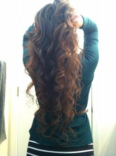 Spiral curls. Love her hair. I just want gorgeous hair is that too much to ask??