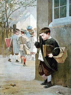 En pénitence - Henri Jules Jean Geoffroy (1853-1924), French painter.