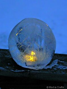 Want to know how to make your own fire and ice lanterns? They are wicked easy and oh so beautiful and only take a balloon and some water and nature does the rest.