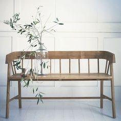 indoor/outdoor bench. wooden rustic style. versatile bench. modern country style interior home decor items. Garden lounge hallway