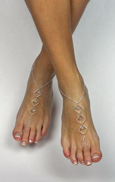 to BareSandals on Etsy: Minimalist Silver Barefoot Sandals Foot Jewelry Asymmetrical Anklet Foot Thong Barefoot Jewelry Silver Anklet Ankle Bracelet Barefoot Sandal USD) Crochet Barefoot Sandals, Beaded Sandals, Beaded Jewelry, Ankle Jewelry, Ankle Bracelets, Body Jewelry, Feet Jewelry, Jewellery, Silver Anklets