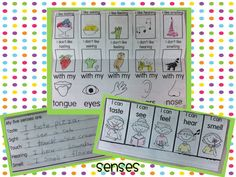 Image result for my five senses lapbook