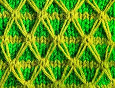 Anything Creative: Multicolor Knit Pattern a Day - Day 9 - TWO COLOR ...