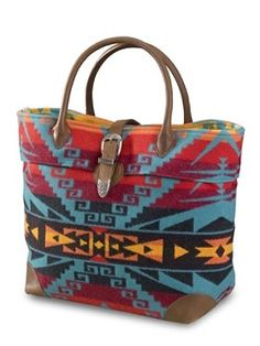 World-famous wool blankets, merino wool clothing & Southwestern decor for your home. Tote Handbags, Purses And Handbags, Navajo, Pendleton Bag, Buckle Bags, Carpet Bag, Medicine Bag, Cowgirl Style, Western Style