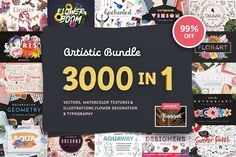 Anniversary Artistic Bundle 99% Off - Illustrations