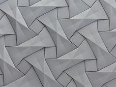 KAZA Concrete's contemporary concrete tile design,'Quadilic' by origami artist Ilan Garibi Pattern Texture, 3d Pattern, Texture Design, Surface Pattern, Surface Design, Pattern Design, Grey Pattern, Concrete Tiles, Concrete Design